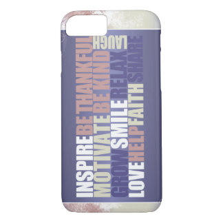 Inspirational quote on iPhone case