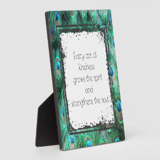 Inspirational Quote On Kindness Spirit And Soul Plaque