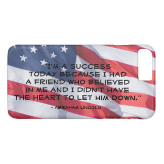 Inspirational Quote Over Anerican Flag Background iPhone 8 Plus/7 Plus Case