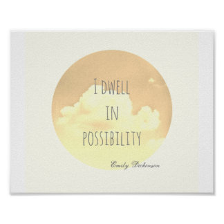 inspirational quote poster Emily Dickinson