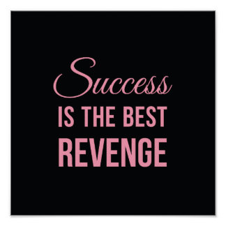 Inspirational Quote Poster Success Black Posters