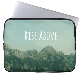 Inspirational Quote: Rise Above Laptop Sleeve