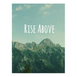 Inspirational Quote: Rise Above Postcard