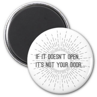 Inspirational Quote Round Magnet