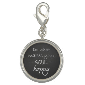 Inspirational Quote: Soul Happy Charm