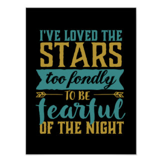 Inspirational Quote Stars Space Geek Astronomy Poster