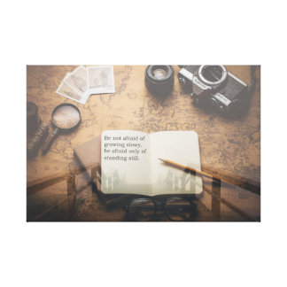 Inspirational Quote Steampunk Canvas Print
