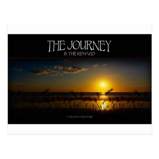 Inspirational Quote -- The Journey of Life Postcard