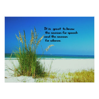 Inspirational Quote The sounds of Silence Poster