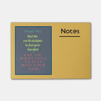 Inspirational Quote Typography Post-it Notes
