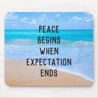 Inspirational Quote with Tropical Beach Scene Mouse Pad