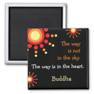 Inspirational Quotes Buddha|Within You Square Magnet