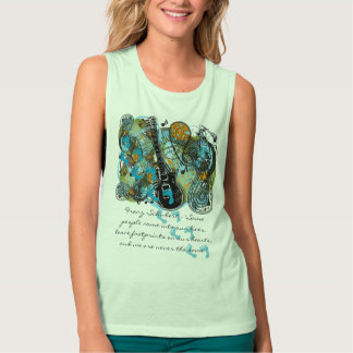 Inspirational Quotes leave footprints on our heart Tank Top