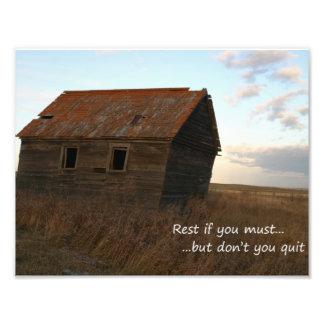 Inspirational quotes unique art barn photograph