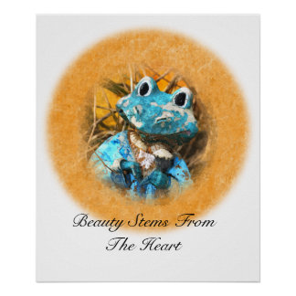 Inspirational Quotes You Are Beautiful Frog Prince Print