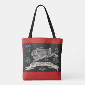 Inspirational Rabbit Hare Tote Friendship Wedding