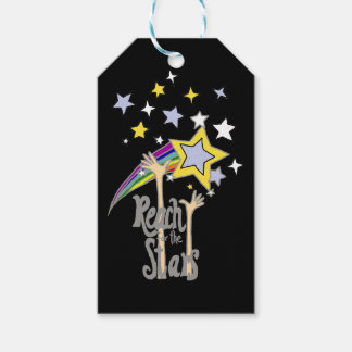 Inspirational Reach for the Stars Abstract Art Gift Tags