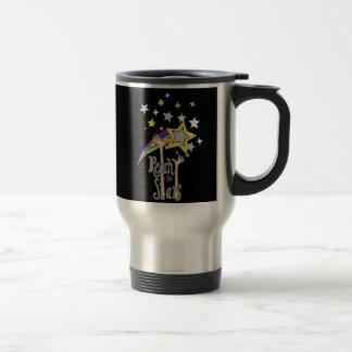Inspirational Reach for the Stars Abstract Art Travel Mug