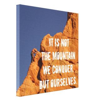 Inspirational Rock Climbing Photography Canvas Print