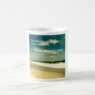 INSPIRATIONAL RUMI OCEAN QUOTE PHOTO MUG