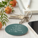 Inspirational Rumi Quote Live Life as if... Basic Round Button Keychain