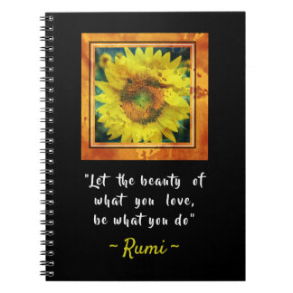 Inspirational Rumi Quote Notebooks