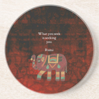 Inspirational Rumi What You Seek Quote Coaster
