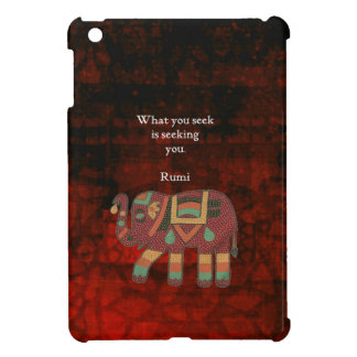 Inspirational Rumi What You Seek Quote iPad Mini Covers