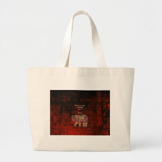 Inspirational Rumi What You Seek Quote Large Tote Bag