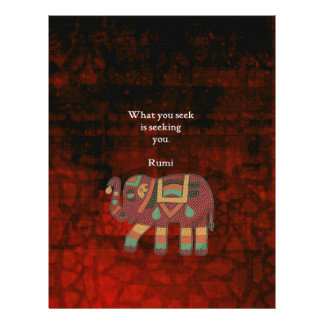Inspirational Rumi What You Seek Quote Letterhead