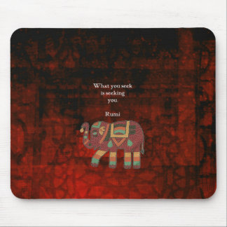 Inspirational Rumi What You Seek Quote Mouse Pad