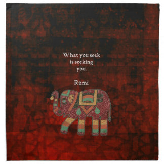Inspirational Rumi What You Seek Quote Napkin