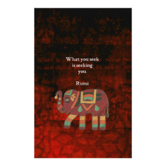 Inspirational Rumi What You Seek Quote Stationery
