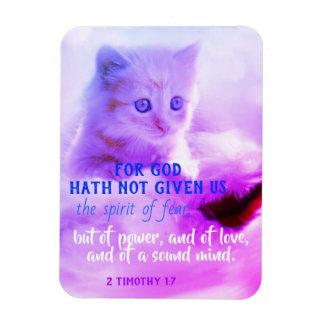 Inspirational Scripture Bible Verse Kitten Magnet