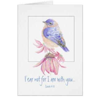 Inspirational Scripture Isaiah 40:10 Bluebird Card