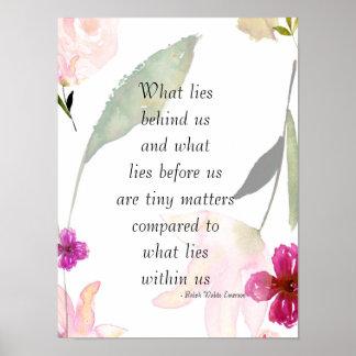 Inspirational So Beautiful Watercolor Floral Poster