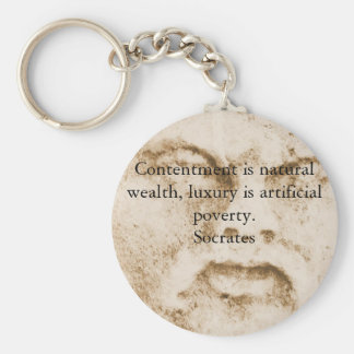Inspirational Socrates Quote Basic Round Button Keychain