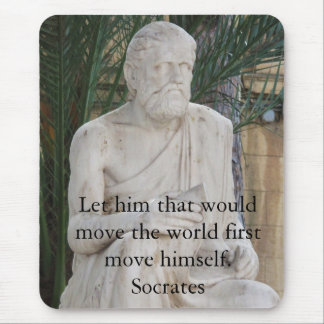 Inspirational Socrates Quote Mouse Pad