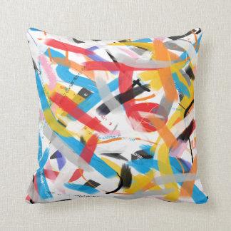 Inspirational Splash of Color Throw Pillow