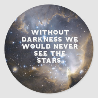 Inspirational Stars and Galaxy Classic Round Sticker