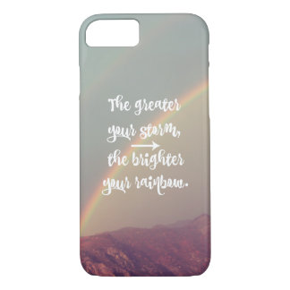 Inspirational Storm and Rainbow Quote iPhone 8/7 Case