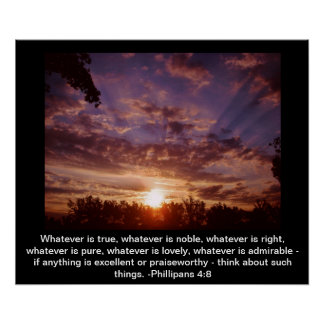 Inspirational sunrise poster
