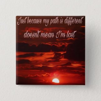 Inspirational sunset design. 2 inch square button