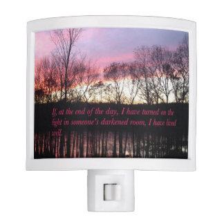 Inspirational Sunset Quote Nite Lite