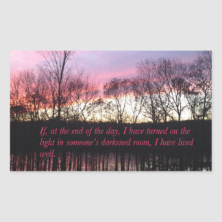 Inspirational Sunset Quote Sticker