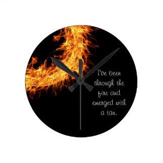 Inspirational survivor message round clock