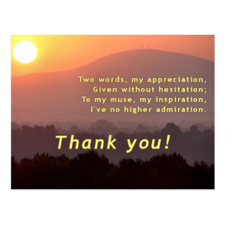 Inspirational Thank You Postcard