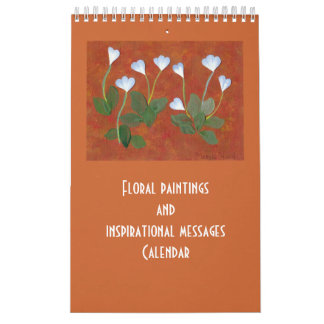 inspirational thought with flowers wall calendars