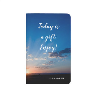 Inspirational Today Is A Gift Sunrise Personalized Journal