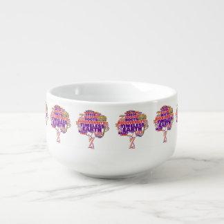 Inspirational Tree of Life Tag Cloud Soup Mug